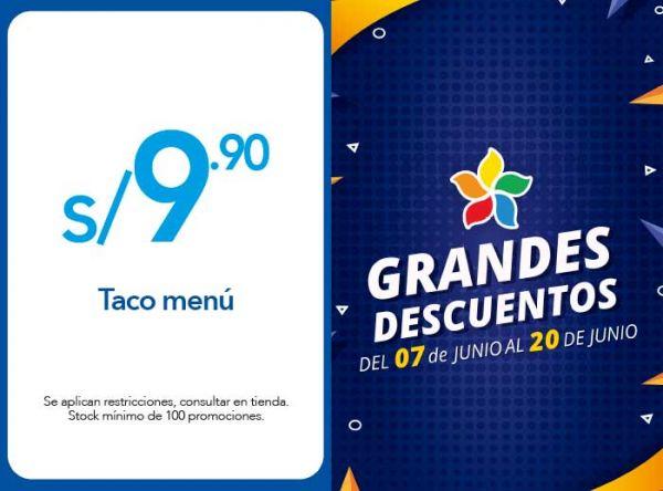 TACO MENÚ A S/ 9.90  TACO BELL - Plaza Norte