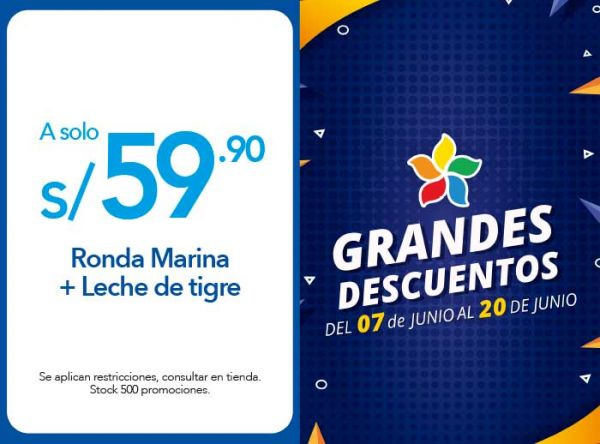 RONDA MARINA + LECHE DE TIGRE S/. 59.90 TIRADITO BARRA CEVICHERA - Plaza Norte
