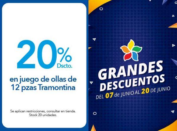 20% DSCTO. EN JUEGO DE OLLAS DE 12 PZAS TRAMONTINA TRAMONTINA STORE - Plaza Norte