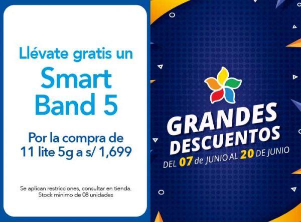 POR LA COMPRA DE 11 LITE 5G A S/ 1,699.00 LLEVATE DE REGALO UN SMART BAND 5 - XIAOMI  - Plaza Norte
