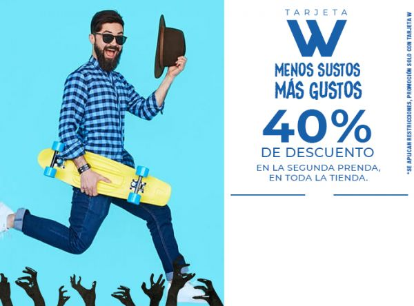40% DSCTO. EN LA SEGUNDA PRENDA, EN TODA LA TIENDA. - ADAMS - Plaza Norte