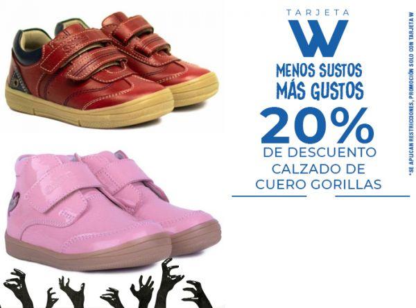 20% DSCTO CALZADO DE CUERO GORILLAS - Gorillaz - Plaza Norte